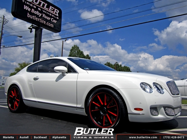 Bentley Continental GT with 20in Savini BM3 Wheels