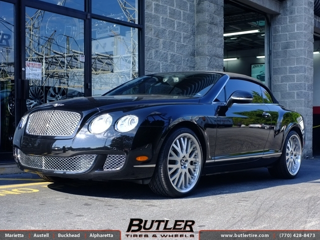 Bentley Continental GT with 21in Kahn RSW Wheels