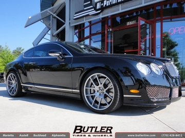 Bentley Continental GT with 21in Niche Targa Wheels