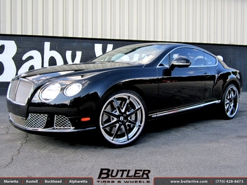 Bentley Continental GT with 22in DUB 1 Eight Wheels