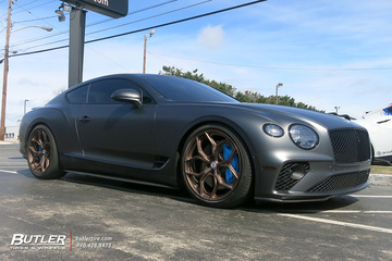 Bentley Continental GT with 22in HRE P111SC Wheels