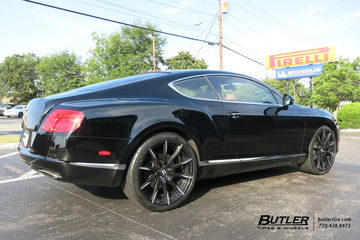 Bentley Continental GT with 22in Lexani CSS15 Wheels
