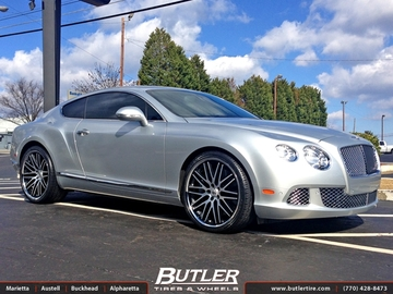 Bentley Continental GT with 22in Lexani CVX 44 Wheels
