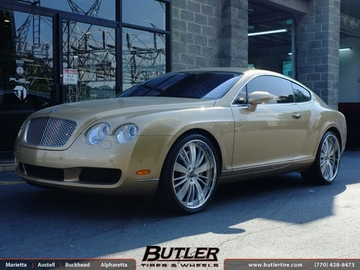 Bentley Continental GT with 22in Lexani LF708 Wheels