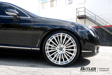 Bentley Continental GT with 22in Lexani LZ-722 Wheels
