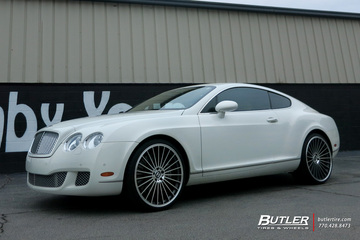 Bentley Continental GT with 22in Mandrus 23 Wheels