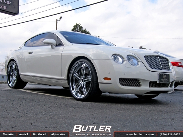 Bentley Continental GT with 22in Mandrus Stuttgart Wheels