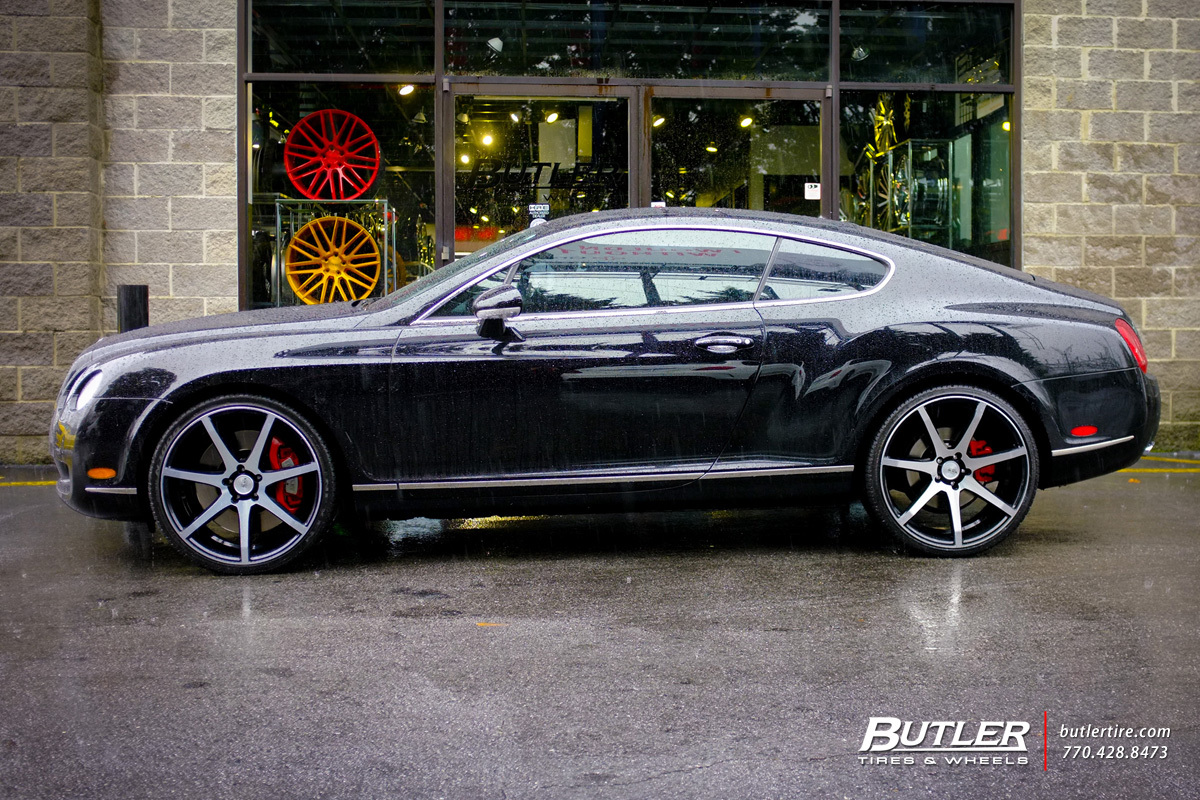 Bentley Continental GT with 22in Savini BM10 Wheels