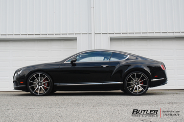 Bentley Continental GT with 22in Savini BM12 Wheels