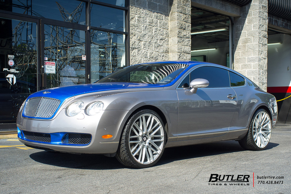 Bentley Continental Gt With 22in Savini Bm13 Wheels