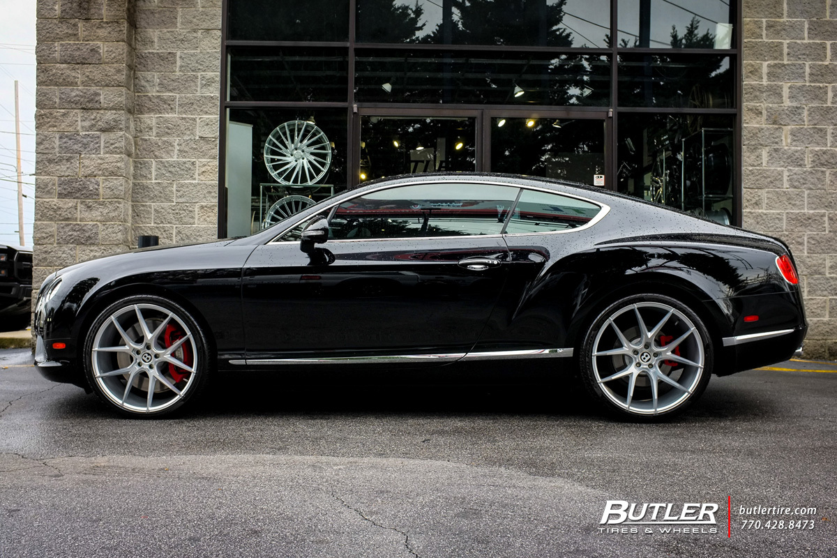 Bentley Continental GT with 22in Savini BM14 Wheels