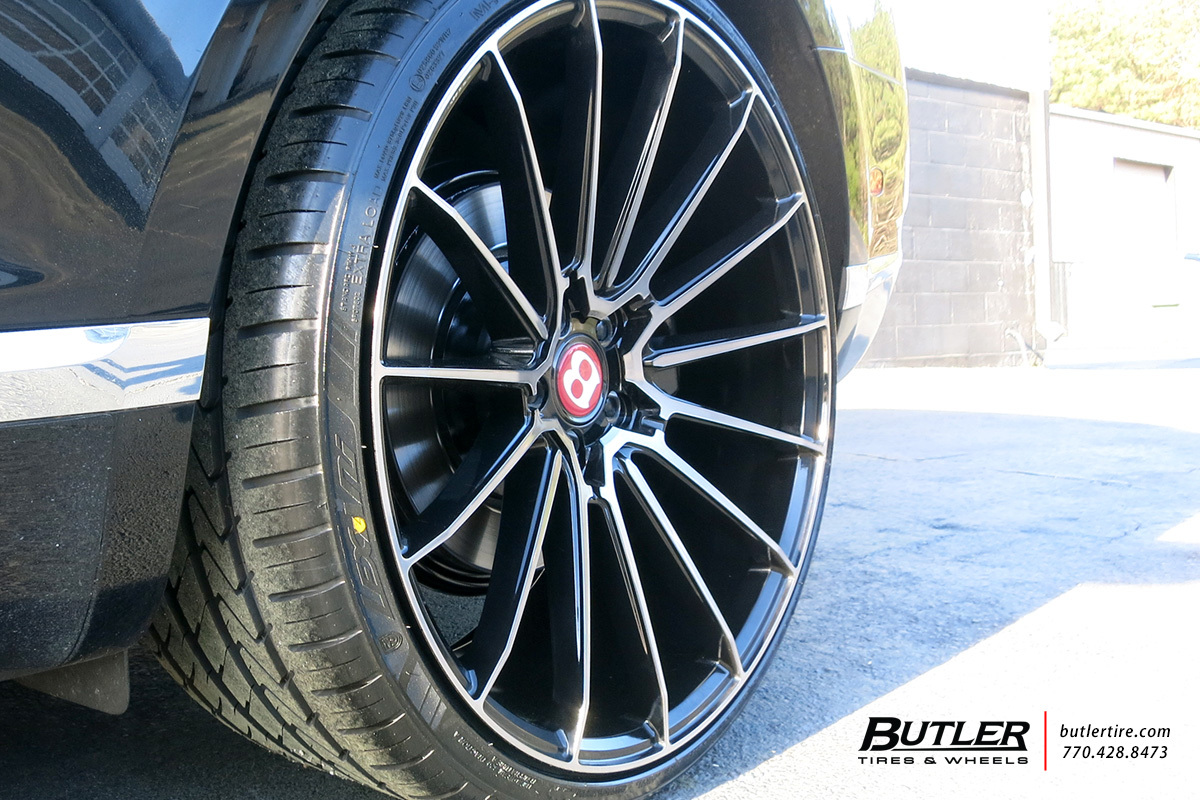Bentley Continental GT with 22in Savini BM16 Wheels