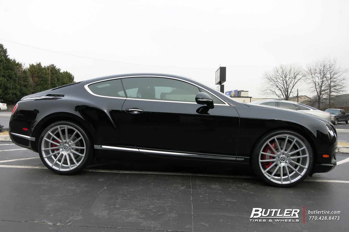 Bentley Continental GT with 22in Savini BM9 Wheels