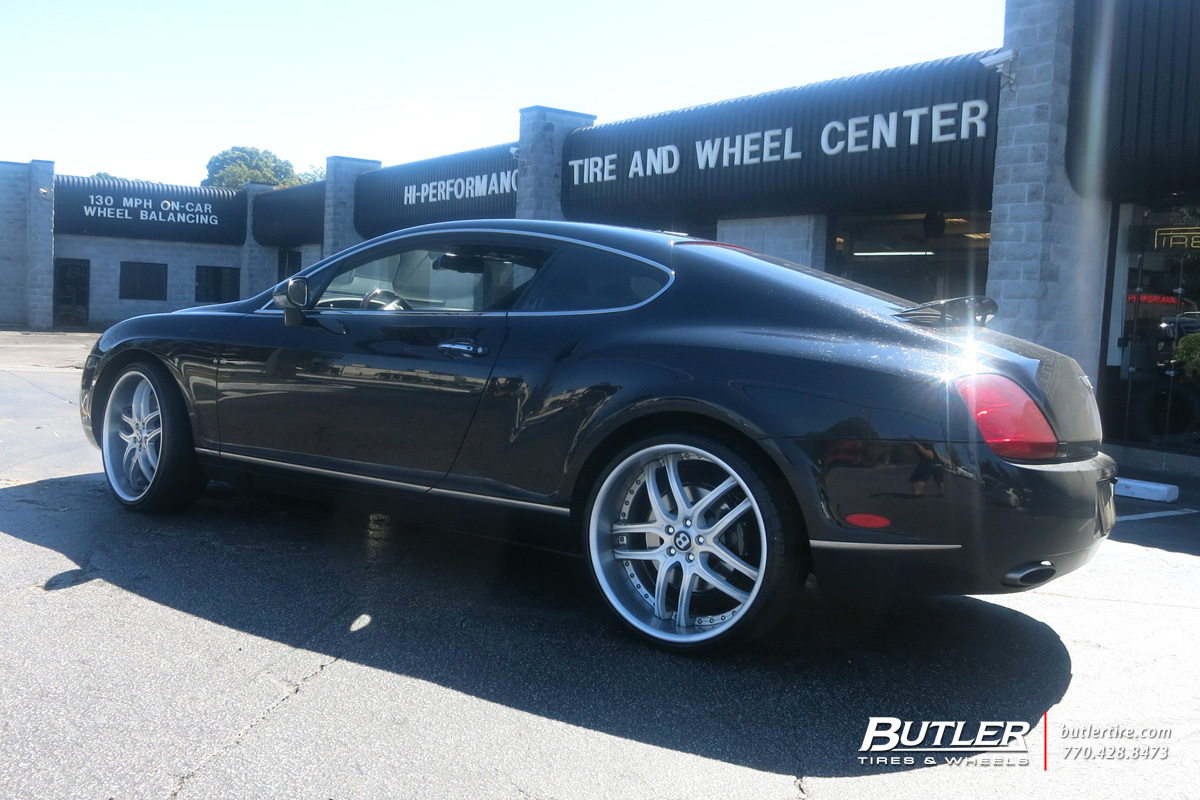 Bentley Continental GT with 22in Savini BS2 Wheels