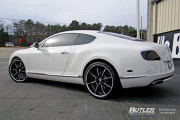 Bentley Continental GT with 22in Savini BS3 Wheels