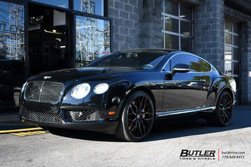 Bentley Continental GT with 22in Savini SV-F 2 Wheels