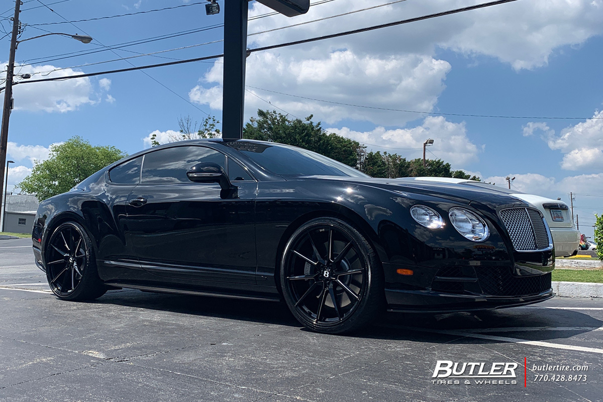 Bentley Continental GT with 22in Savini SV-F 4 Wheels