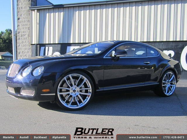Bentley Continental GT with 22in Savini SV25m Wheels