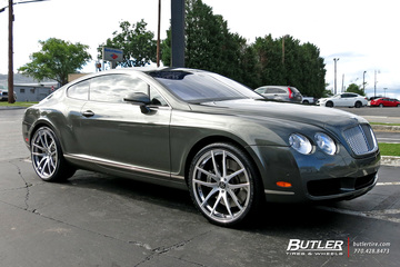 Bentley Continental GT with 22in Savini SV40M Wheels