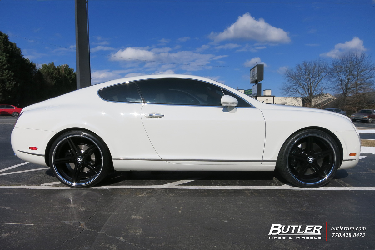 Bentley Continental GT with 22in TSW Mirabeau Wheels