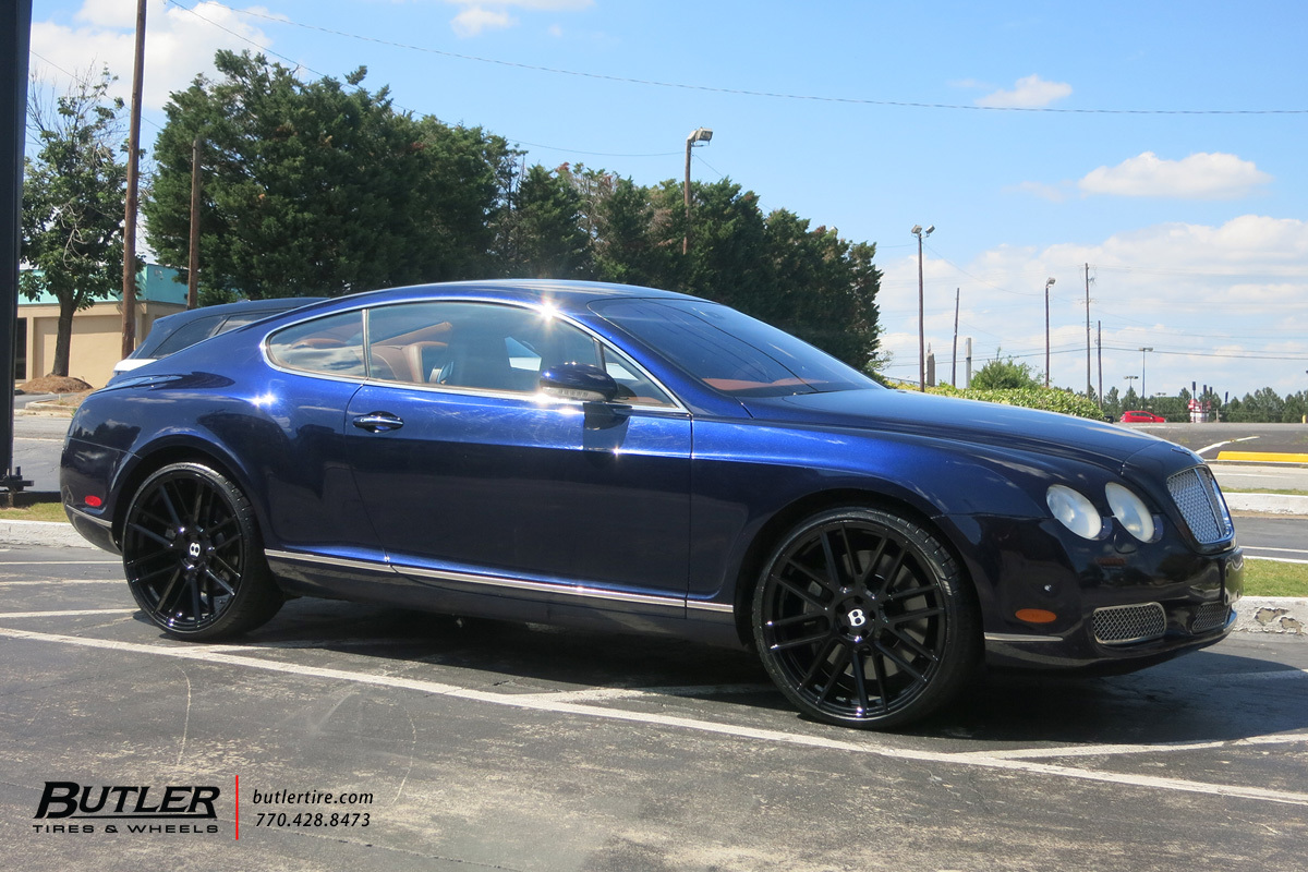 Bentley Continental GT with 22in TSW Mosport Wheels