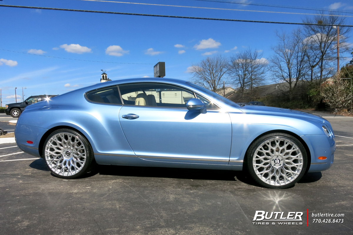 Bentley Continental GT with 22in TSW Oslo Wheels