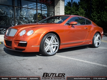 Bentley Continental GT with 22in Vellano VTJ Wheels