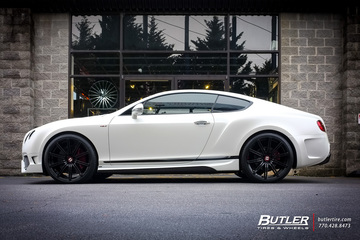 Bentley Continental GT with 22in Vossen CV4 Wheels