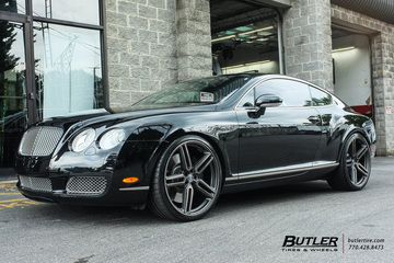 Bentley Continental GT with 22in Vossen HF-1 Wheels