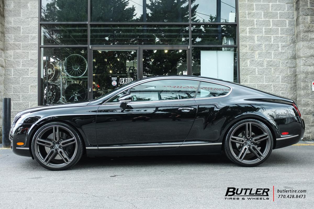 bentley continental gt   vossen hf  wheels exclusively  butler tires  wheels