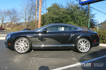 Bentley Continental GT with 22in Vossen VFS1 Wheels