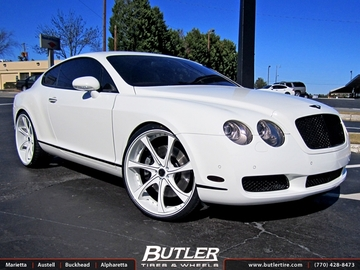 Bentley Continental GT with 24in Savini SV31c Wheels