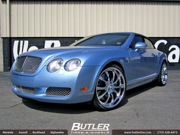 Bentley Continental GT-C with 22in Savini BM1 Wheels