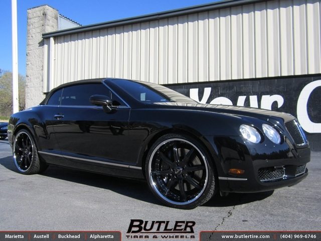 Bentley Continental GT-C with 22in Savini BS3 Wheels