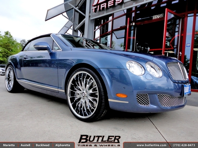 Bentley Continental GT-C with 22in Savini BS5 Wheels