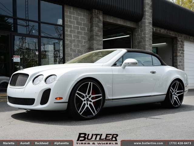 Bentley Continental GT-C with 22in Savini SV02 Wheels