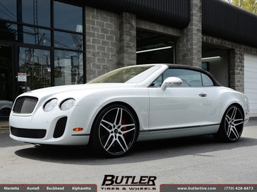 Bentley Continental GT-C with 22in Savini SV2 Wheels