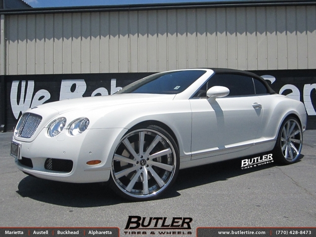 Bentley Continental GT-C with 24in Vellano VTV Wheels