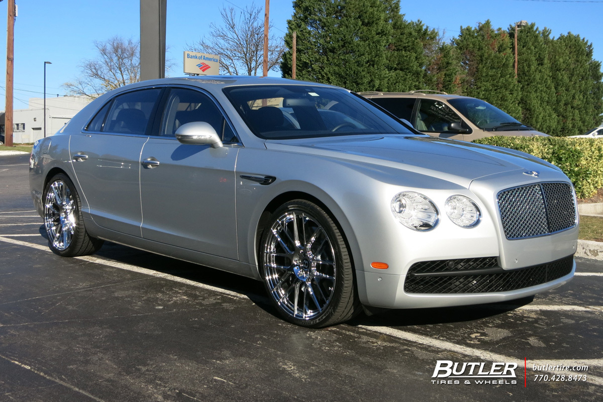 Bentley Flying Spur with 22in Lexani CSS8 Wheels