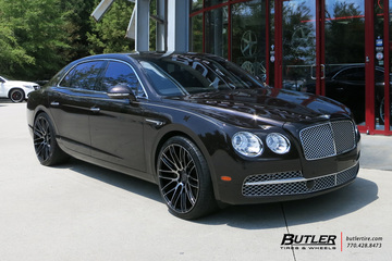 Bentley Flying Spur with 22in Savini BM13 Wheels