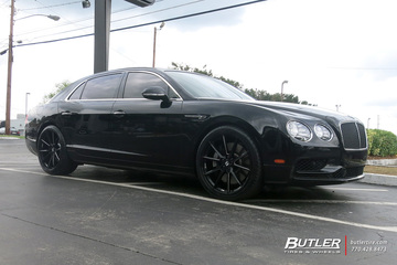 Bentley Flying Spur with 22in Savini SV-F 4 Wheels