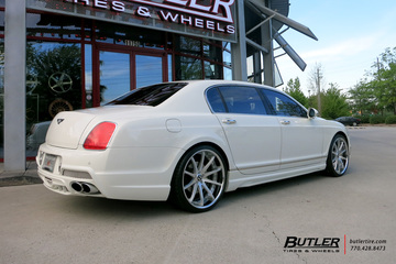 Bentley Flying Spur with 22in Savini SV41 Wheels