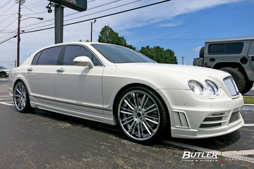 Bentley Flying Spur with 22in Savini SV66c Wheels