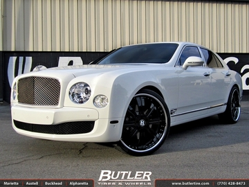 Bentley Mulsanne with 24in Vellano VTR Wheels