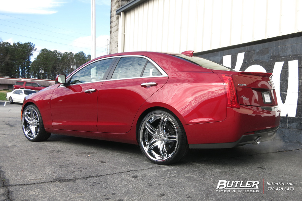 Cadillac ATS with 20in Status Haze Wheels