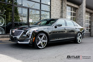 Cadillac CT6 with 22in Lexani R-Four Wheels