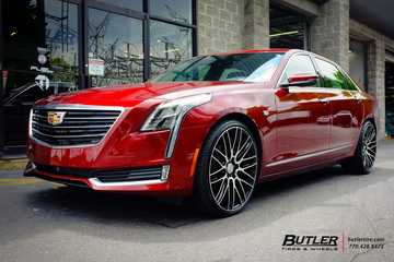 Cadillac CT6 with 22in Savini BM13 Wheels