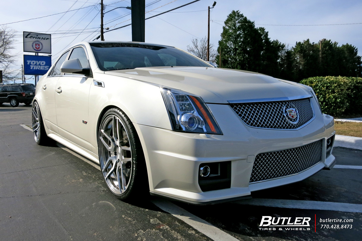 Cadillac CTS-V with 21in Avant Garde AGL26 Wheels