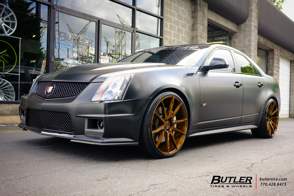 Cadillac Ats Coupe >> Cadillac CTS-V with 22in Savini BM12 Wheels exclusively ...