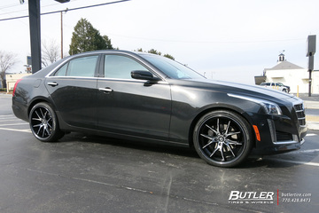 Cadillac CTS with 20in Lexani R-Twelve Wheels